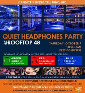 CSCF Quiet Headphones Party Flyer 9.18.17